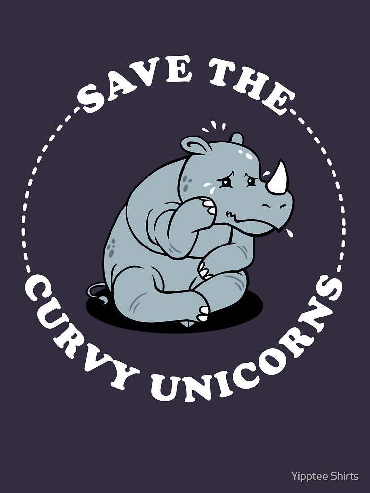 Save The Curvy Unicorns by dumbshirts