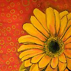Gerber Daisy with Drab Green Os by melasdesign