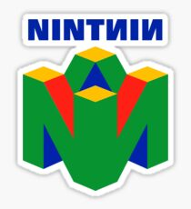 Original Nintendo 64 Vaporwave Reversed Logo Sticker
