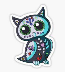 Day of the Dead Owl-Smokey Blue Sticker