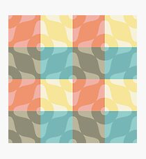 Kitchen Towel in pastel colors Photographic Print