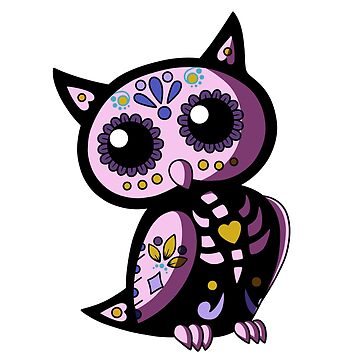 Day of the Dead Owl-Pink by plaguewolfen
