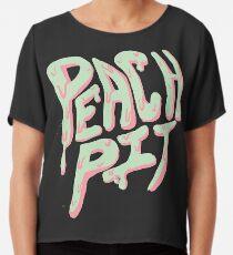 Peach Pit Chiffon Top