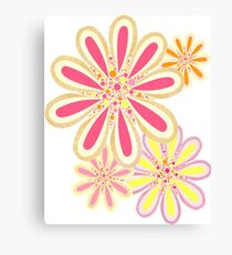 Petals and Dots Canvas Print