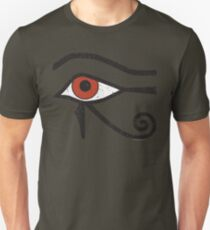Eye of Horus Ancient Egyptian Symbol of Protection on Red T-Shirt