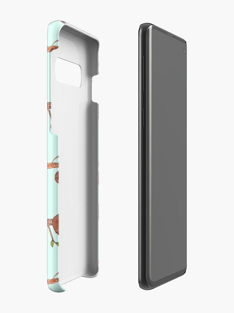 Alternate view of Baby Sloths hanging on Tree Pattern Case & Skin for Samsung Galaxy