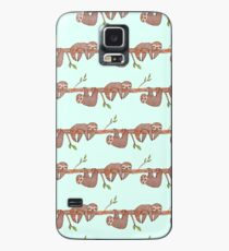 Baby Sloths hanging on Tree Pattern Case/Skin for Samsung Galaxy