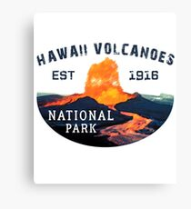 Hawaii Volcanoes National Park Travel Hawaii State Park United States Canvas Print