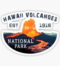 Hawaii Volcanoes National Park Travel Hawaii State Park United States Sticker