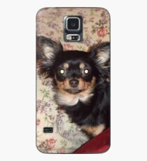 chihuahua longhaired in bed Case/Skin for Samsung Galaxy