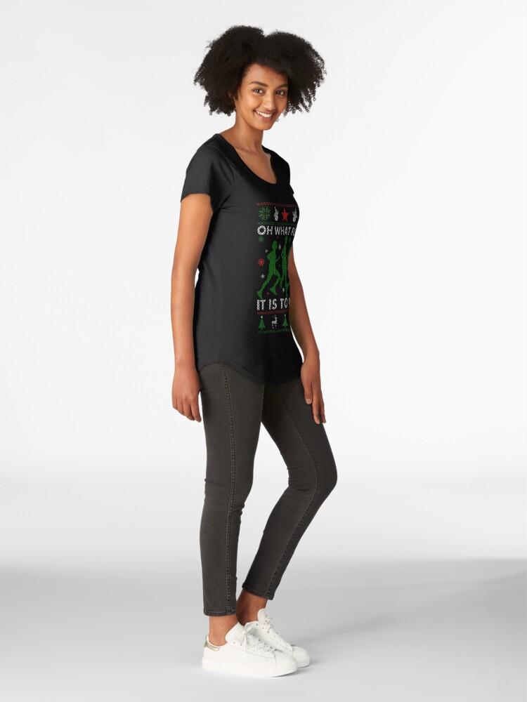 Alternative Ansicht von Hässliches Weihnachtst-stück laufen Premium Rundhals-Shirt