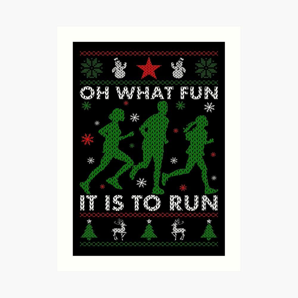 Hässliches Weihnachtst-stück laufen Kunstdruck