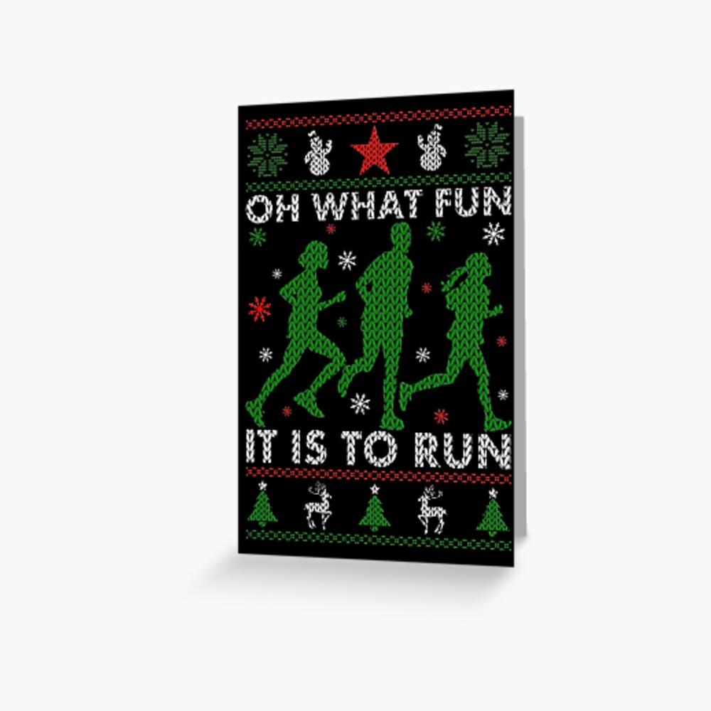 Hässliches Weihnachtst-stück laufen Grußkarte
