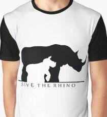 Save The Rhino (White Background) Graphic T-Shirt