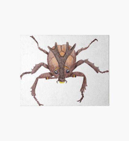 Japanese Rrhinoceros Beetle Art Board Print
