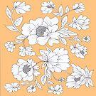 Floral in Orange by Rosie Brown