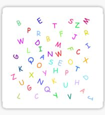 Dancing block letters party time Sticker