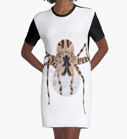 Spider with an Egg Sack Graphic T-Shirt Dress