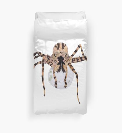 Spider with an Egg Sack Duvet Cover