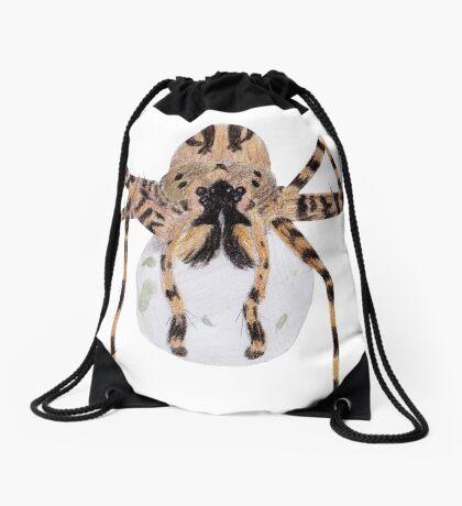 Spider with an Egg Sack Drawstring Bag