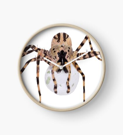 Spider with an Egg Sack Clock