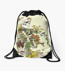 Bones and Botany Drawstring Bag