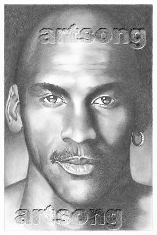Michael Jordan by Kate Eller