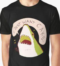 Cake Shark Just Wants Cake Graphic T-Shirt
