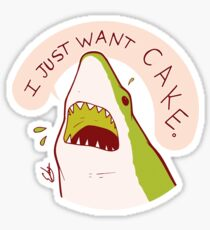 Pegatina Cake Shark Just Wants Cake