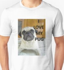 pug love fawn with picture T-Shirt