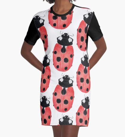 Ladybug Graphic T-Shirt Dress