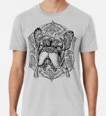 Frenchie Bulldog Mandala Men's Premium T-Shirt