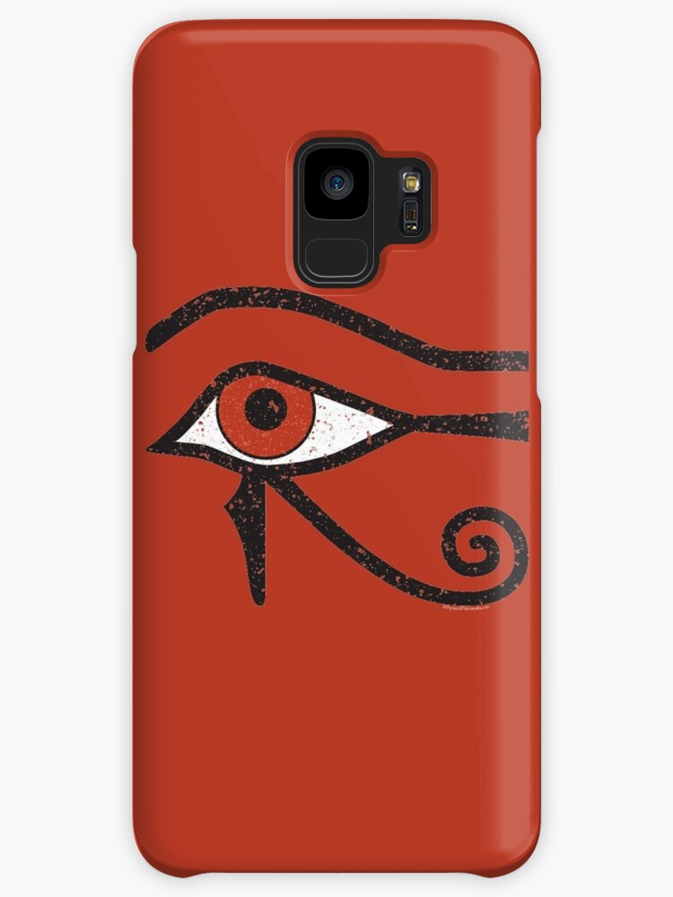 Eye Of Horus Ancient Egyptian Symbol Of Protection On Red Cases
