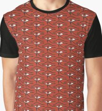 Eye of Horus Ancient Egyptian Symbol of Protection on Red Graphic T-Shirt