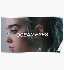 Billie Ellish - Ocean Eyes Poster
