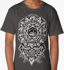 Eye of God Flower Mandala Long T-Shirt
