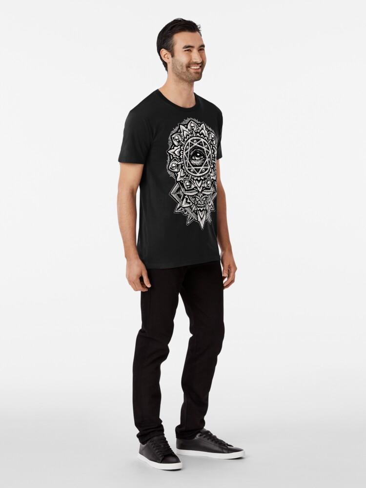 Alternate view of Eye of God Flower Mandala Premium T-Shirt