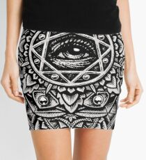 Eye of God Flower Mandala Mini Skirt