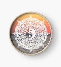 Sunset Yin Yang Mandala Clock