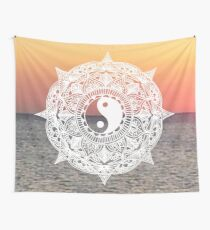 Sunset Yin Yang Mandala Wall Tapestry