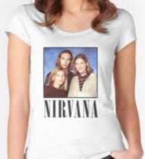 Fake Band cover Women's Fitted Scoop T-Shirt