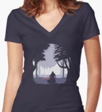 Kylo Ren - Minimal Women's Fitted V-Neck T-Shirt