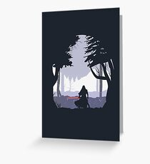 Kylo Ren - Minimal Greeting Card