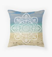 Beach Mandala Throw Pillow