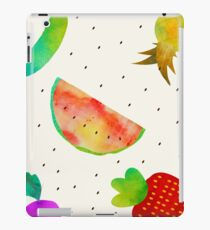 Watercolor Fruits and Vegetables iPad Case/Skin