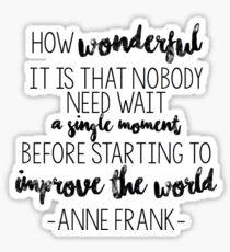 Anne Frank Sticker