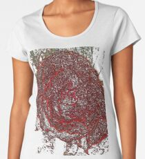 Neon Red Flower Women's Premium T-Shirt