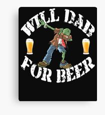Funny Halloween Dabbing Zombie Beer Lovers Costume Collection Dabbing For Beer Canvas Print