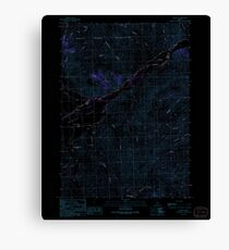 USGS TOPO Map Idaho ID Grouse 236359 1991 24000 Inverted Canvas Print