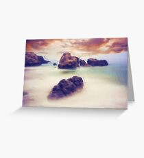 Floating stones Greeting Card